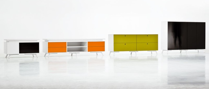 Büroschrank design  Designschreibtisch