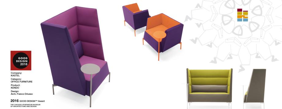 Design Loungemöbel München, Sessel mit hoher Lehne, Kendo, Designloungemöbel